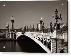 Acrylic Print featuring the photograph Paris Alexandre IIi by Songquan Deng