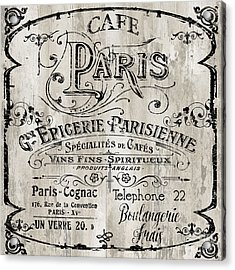 Paris Bistro  Acrylic Print by Mindy Sommers