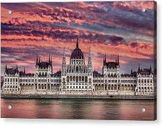 Pink Parliament Acrylic Print