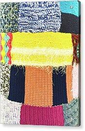 Patchwork Wool Acrylic Print by Tom Gowanlock