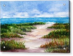 Path To The Beach Acrylic Print by Suzanne Krueger