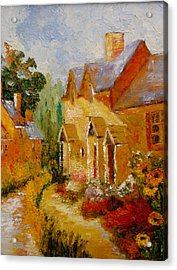 Acrylic Print featuring the painting Pathway Home by Marie Hamby