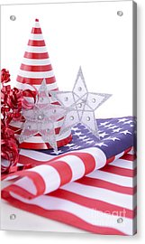 Patriotic Party Decorations For Usa Events Acrylic Print by Milleflore Images