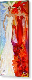 Pearl And June Acrylic Print by Helen Gerro