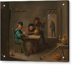 Peasants In A Tavern Acrylic Print by David Teniers the Younger