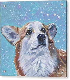 Acrylic Print featuring the painting Pembroke Welsh Corgi by Lee Ann Shepard