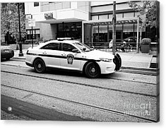 pennsylvania state trooper police cruiser vehicle Philadelphia USA Acrylic Print