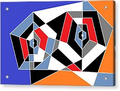 2 Pentagons Acrylic Print