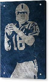 Peyton Manning Colts Acrylic Print by Joe Hamilton
