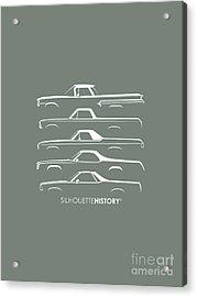 Pickupino Silhouettehistory Acrylic Print