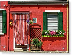 Picturesque House In Burano Acrylic Print
