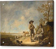 Piping Shepherds Acrylic Print