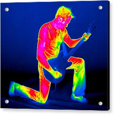 Playing Guitar, Thermogram Acrylic Print by Tony Mcconnell