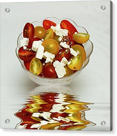 Plum Cherry Tomatoes Acrylic Print by David French