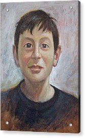 Portrait Of A Boy Acrylic Print by George Siaba