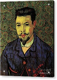 Portrait Of Doctor Felix Rey Acrylic Print by Vincent Van Gogh