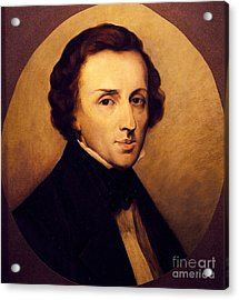 Portrait Of Frederic Chopin  Acrylic Print by Ary Scheffer