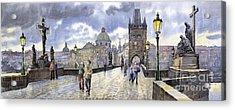 Prague Charles Bridge Acrylic Print