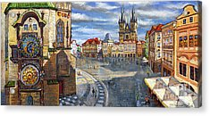 Prague Old Town Squere Acrylic Print