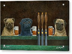 Acrylic Print featuring the painting Pug Crawl... by Will Bullas