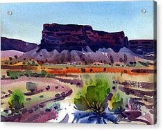 Purple Butte Acrylic Print by Donald Maier