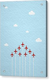 Raf Red Arrows In Formation Acrylic Print