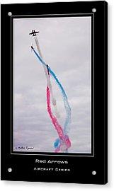 Red Arrows Acrylic Print by Mathias Rousseau