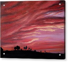 Red Skies Acrylic Print by Michelle Fayant
