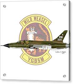 Republic F-105g Thunderchief 561tfs Acrylic Print by Arthur Eggers