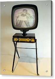 Retro Tv Acrylic Print by Matthew Bamberg