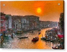 Acrylic Print featuring the photograph Riva Del Ferro. Venezia by Juan Carlos Ferro Duque