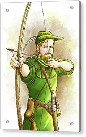 Robin Hood The Legend Acrylic Print by Reynold Jay