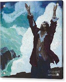 Robinson Crusoe Acrylic Print by Newell Convers Wyeth