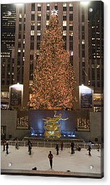 Rockefeller Center And The Famous Acrylic Print by Taylor S. Kennedy