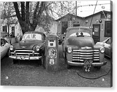 Route 66 - Snow Cap Drive-in Acrylic Print by Frank Romeo