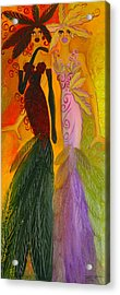 Ruby And April  Acrylic Print by Helen Gerro