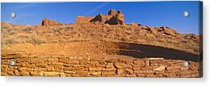Ruins Of 900 Year Old Hopi Village Acrylic Print by Panoramic Images
