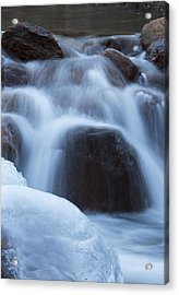 Running Stream Acrylic Print by Maureen Bates