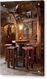 Rustic Restaurant Seating Acrylic Print by Jaak Nilson
