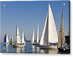 Sailboat Race Acrylic Print by Tom Dowd