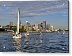 Sailing To Seattle Acrylic Print by Tom Dowd