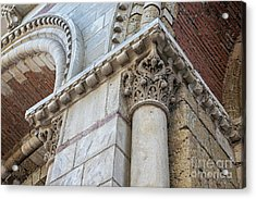 Acrylic Print featuring the photograph Saint Sernin Basilica Architectural Detail by Elena Elisseeva