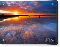 Salt Pan Sunrise Acrylic Print