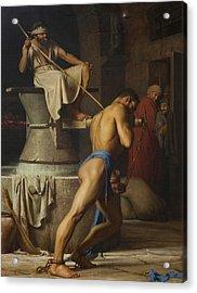 Samson And The Philistines Acrylic Print