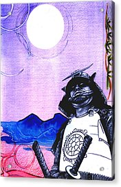 Samurai  Art For Seven Card Samurai Acrylic Print by Chris Montecalvo
