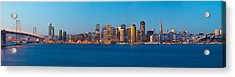 San Francisco Financial District Acrylic Print by Panoramic Images