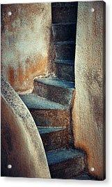 Santorini Island Stairs Acrylic Print by Songquan Deng