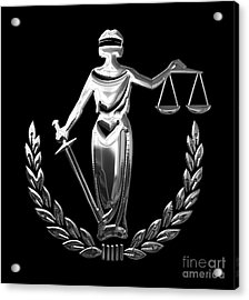 Scales Of Justice Collection Acrylic Print by Marvin Blaine