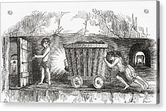 Scene Inside An English Coal Mine Acrylic Print