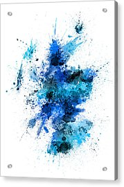 Scotland Paint Splashes Map Acrylic Print by Michael Tompsett